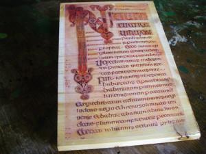"""Eine Seite aus dem """"Book of Durrow"""", ca. 7. jahrhundert."""
