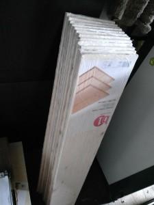 Leimholzbretter aus dem Baumarkt, 120x20x1.6 cm
